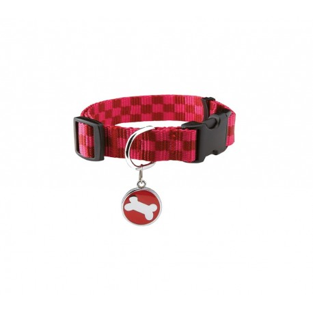 COLLIER DAMIER ROUGE 10