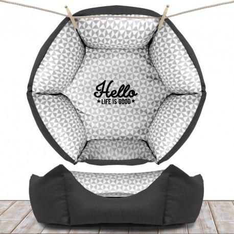 sofa hexagonal 55 cm grey au comptoir des quatre pattes. Black Bedroom Furniture Sets. Home Design Ideas